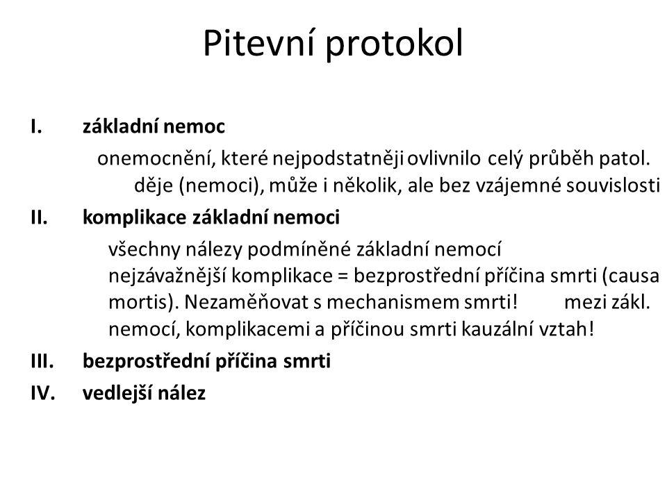 Pitevní protokol základní nemoc