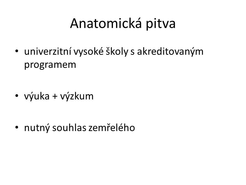 Anatomická pitva univerzitní vysoké školy s akreditovaným programem