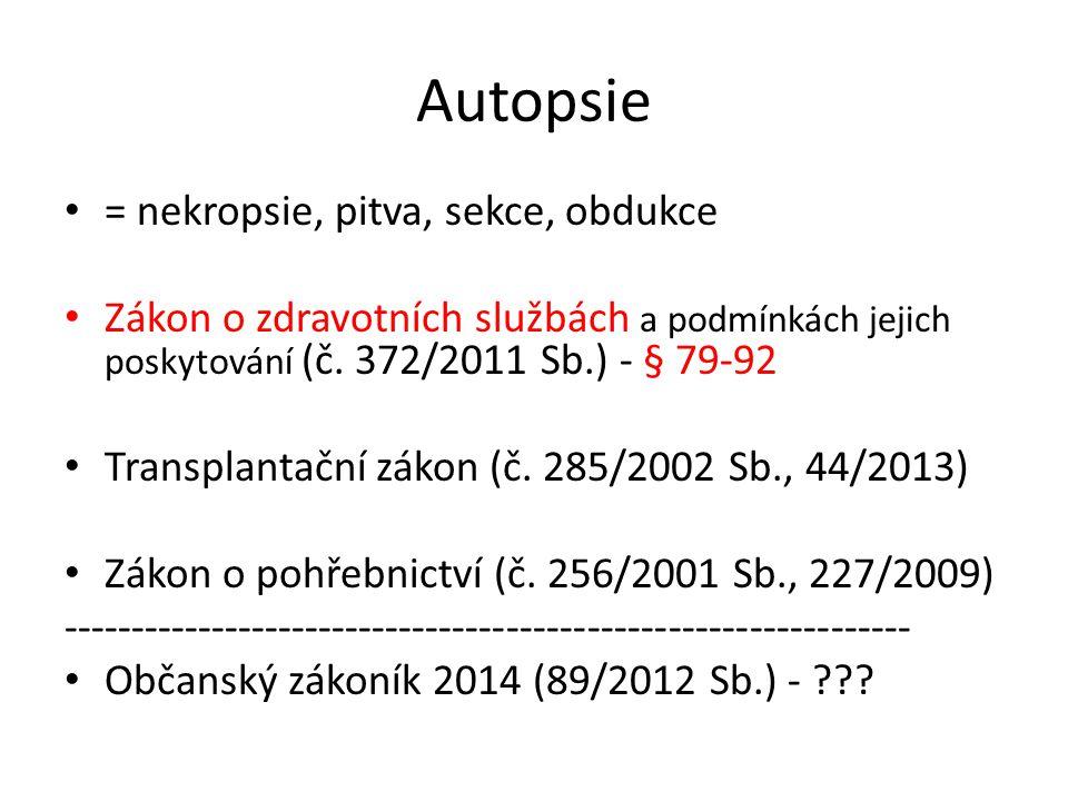 Autopsie = nekropsie, pitva, sekce, obdukce