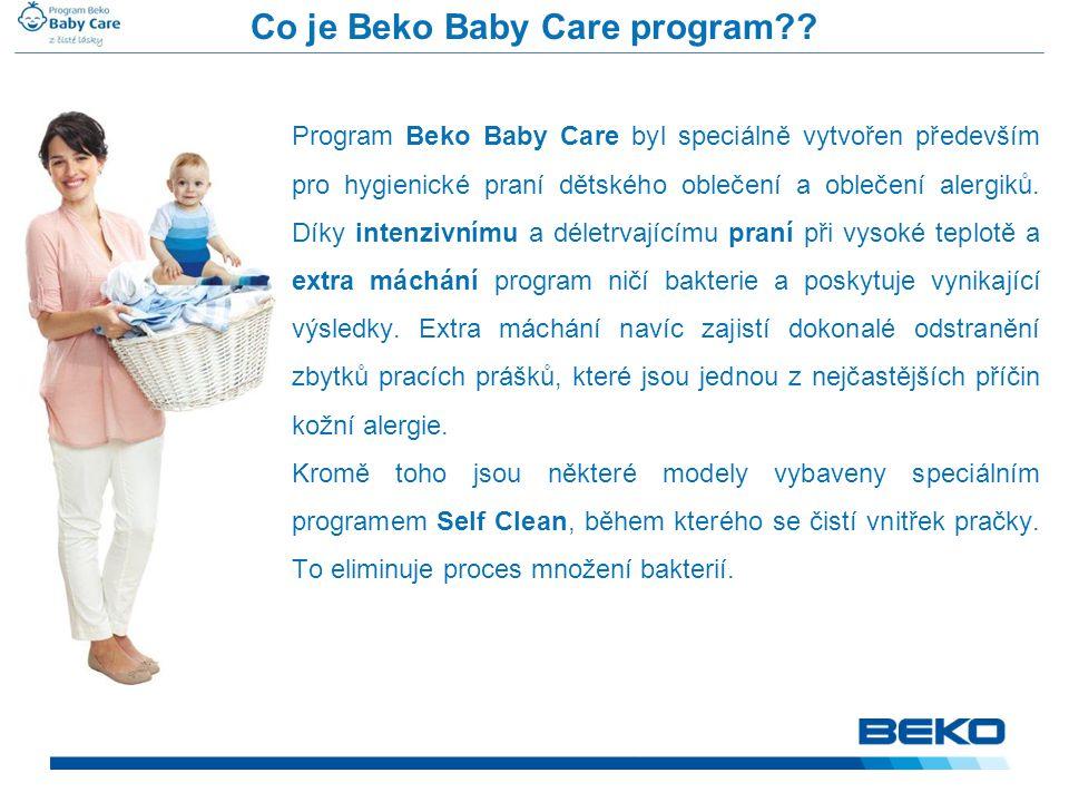 Co je Beko Baby Care program