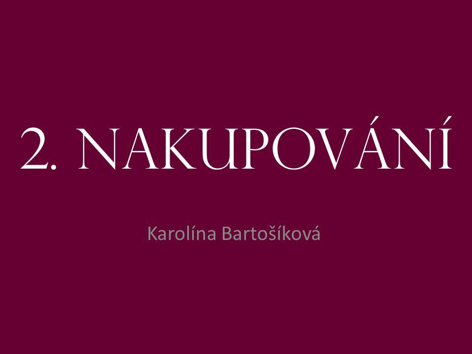 2. Nakupování Karolína Bartošíková