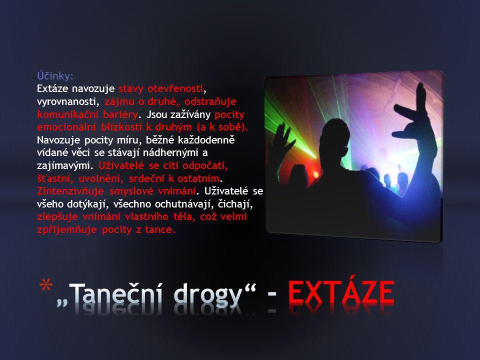 """""""Taneční drogy - EXTÁZE"""