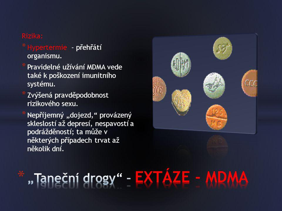 """""""Taneční drogy – EXTÁZE - MDMA"""