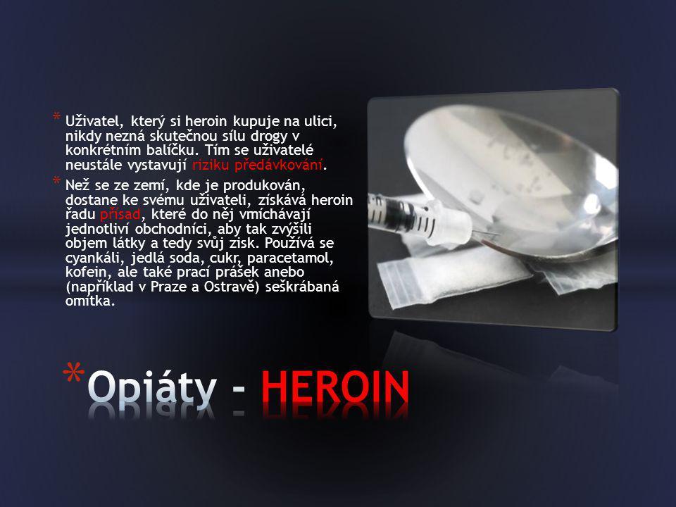 Uživatel, který si heroin kupuje na ulici, nikdy nezná skutečnou sílu drogy v konkrétním balíčku. Tím se uživatelé neustále vystavují riziku předávkování.