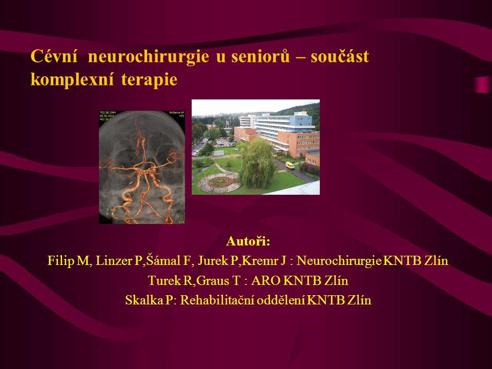 Cévní neurochirurgie u seniorů – součást komplexní terapie
