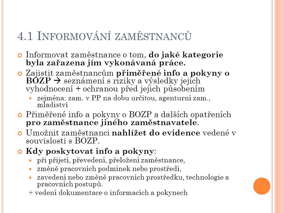 4.1 Informování zaměstnanců