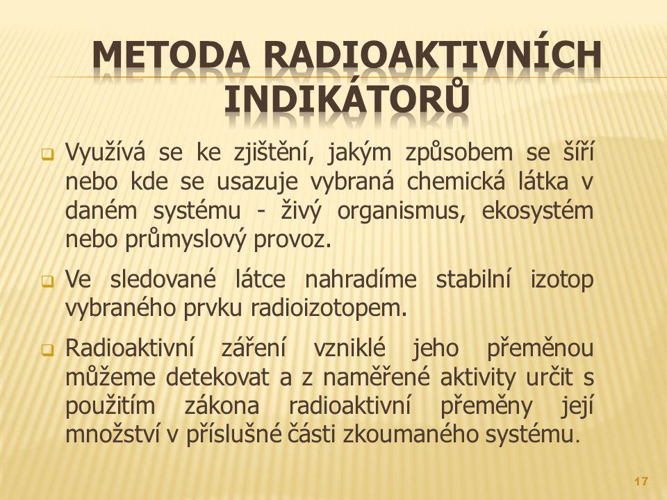 Metoda radioaktivních indikátorů