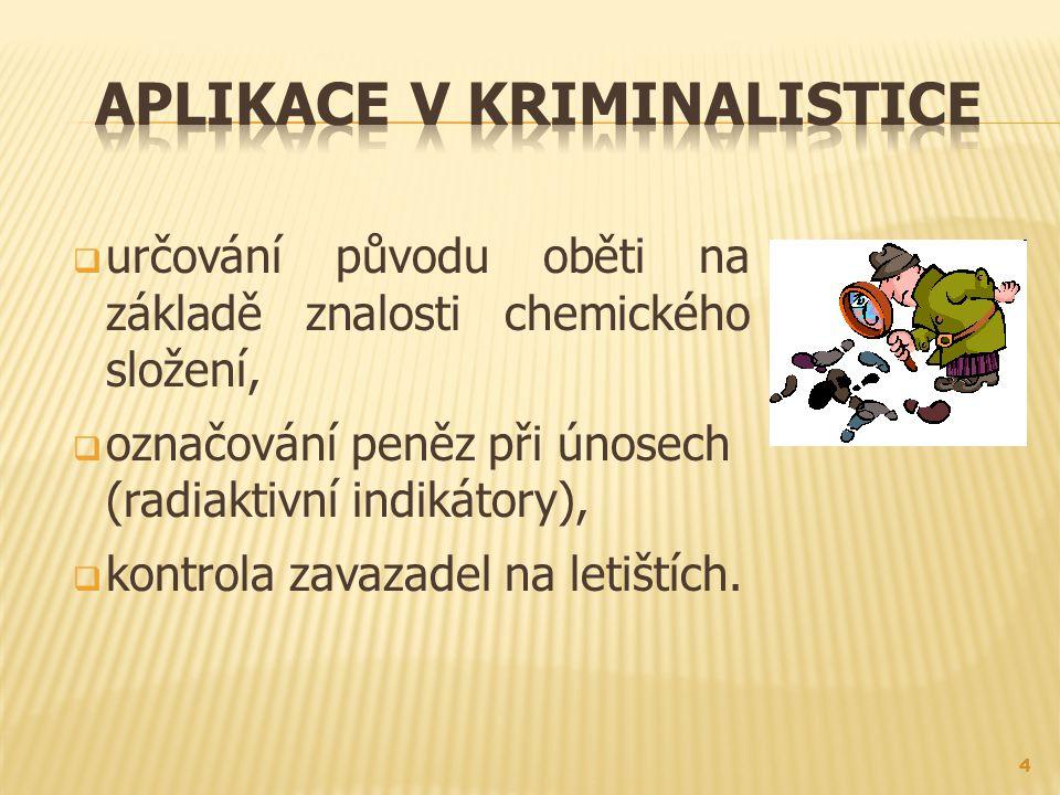 Aplikace v kriminalistice