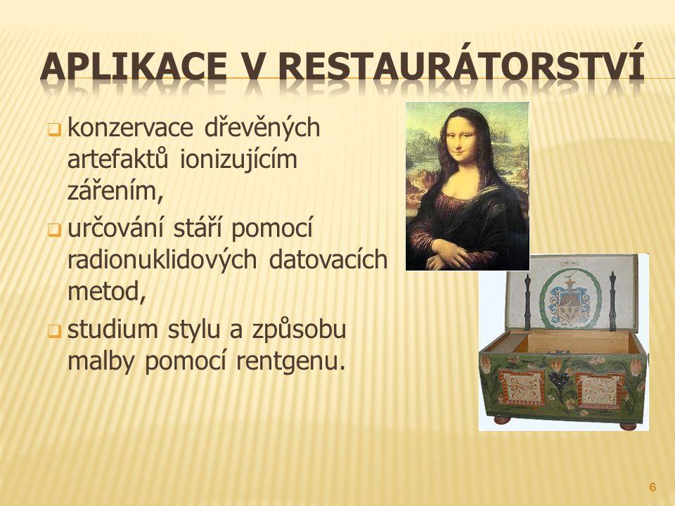 Aplikace v restaurátorství