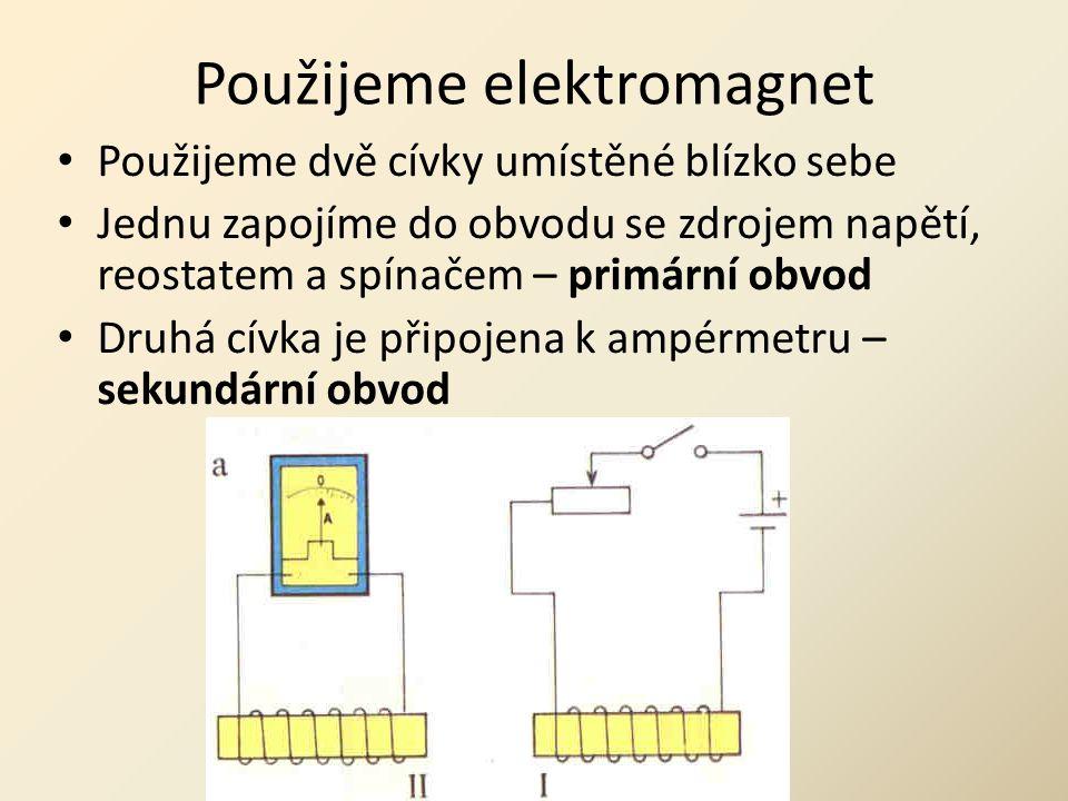 Použijeme elektromagnet