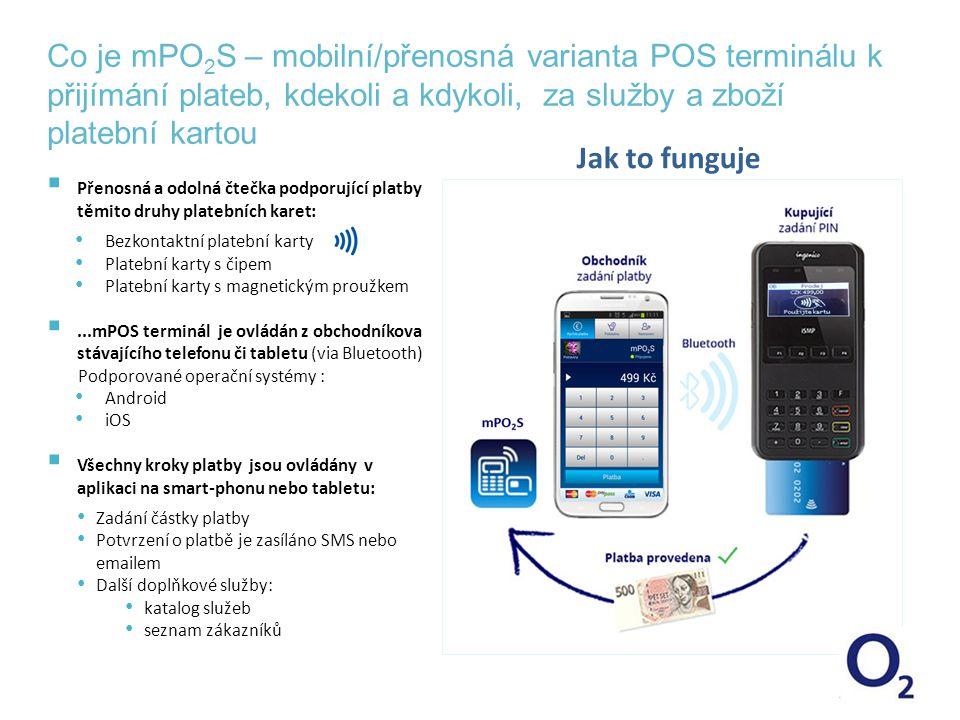 Co je mPO2S – mobilní/přenosná varianta POS terminálu k přijímání plateb, kdekoli a kdykoli, za služby a zboží platební kartou