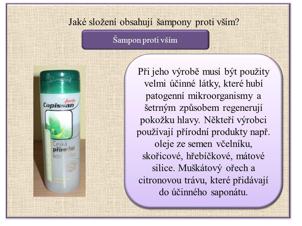 Jaké složení obsahují šampony proti vším