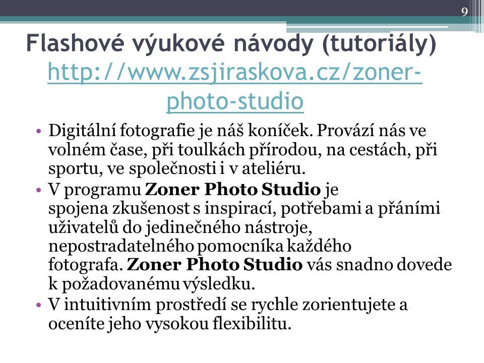 Flashové výukové návody (tutoriály) http://www. zsjiraskova