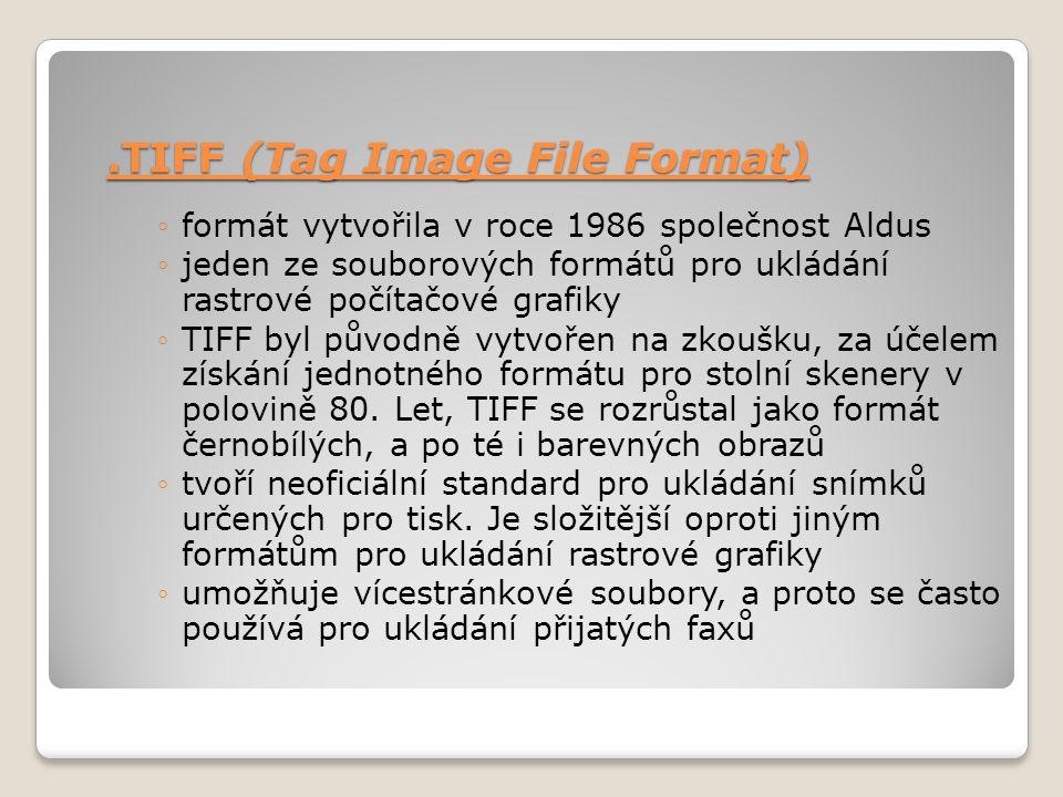 .TIFF (Tag Image File Format)