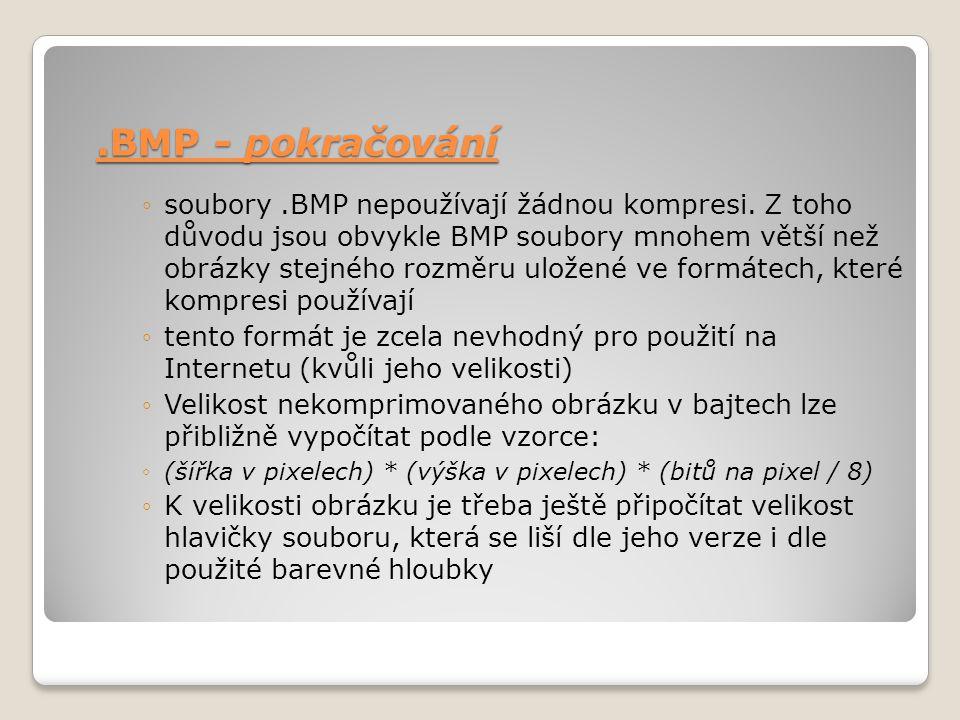 .BMP - pokračování