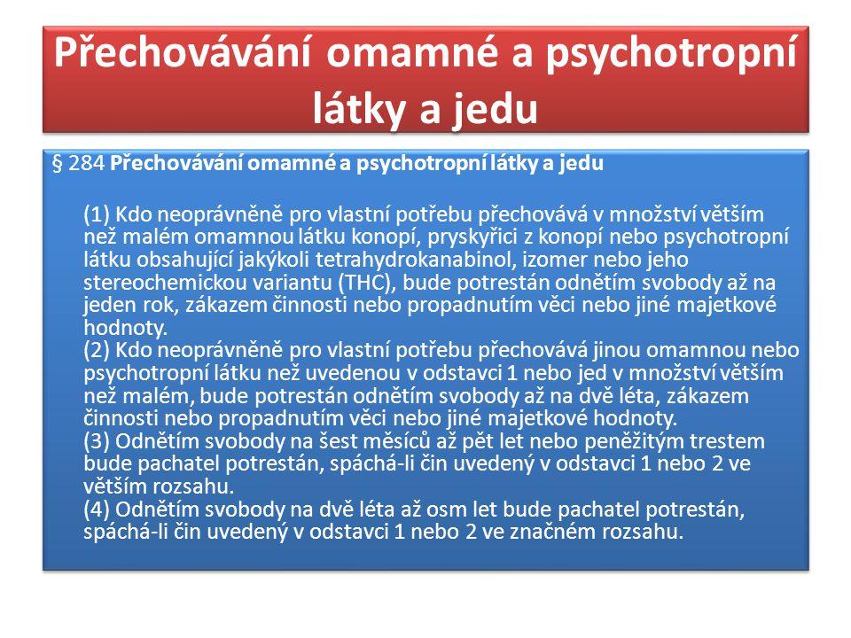 Přechovávání omamné a psychotropní látky a jedu