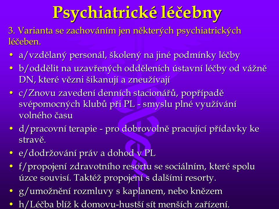 Psychiatrické léčebny