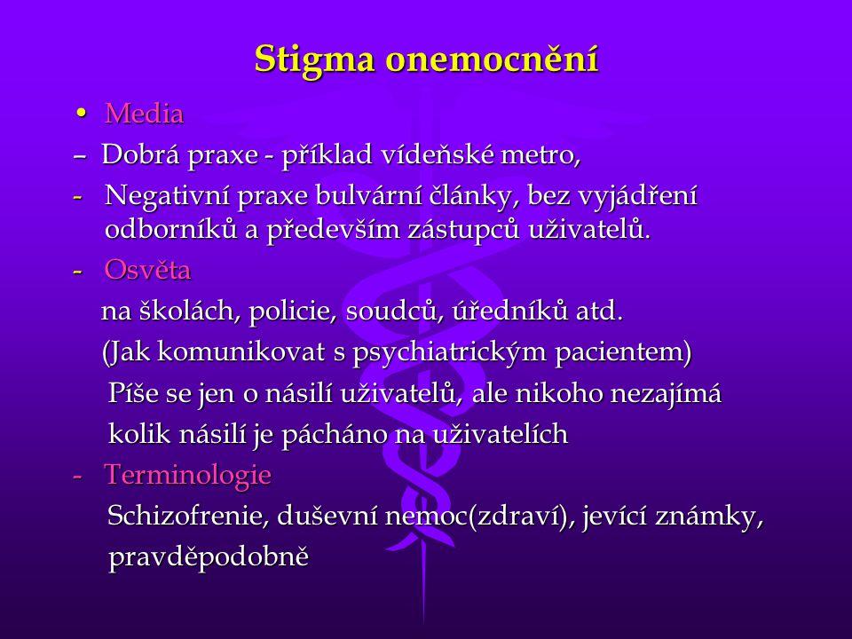 Stigma onemocnění Media – Dobrá praxe - příklad vídeňské metro,