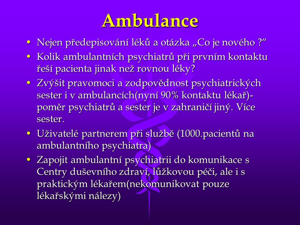 """Ambulance Nejen předepisování léků a otázka """"Co je nového"""