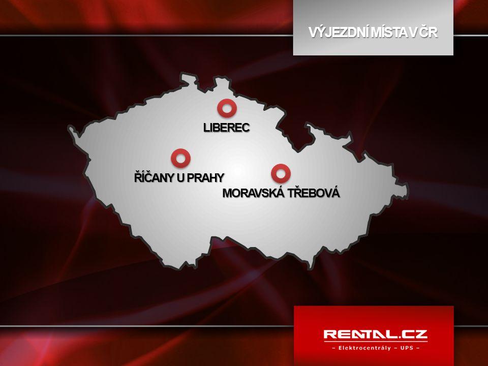 VÝJEZDNÍ MÍSTA V ČR LIBEREC ŘÍČANY U PRAHY MORAVSKÁ TŘEBOVÁ