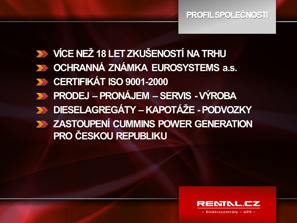VÍCE NEŽ 18 LET ZKUŠENOSTÍ NA TRHU OCHRANNÁ ZNÁMKA EUROSYSTEMS a.s.