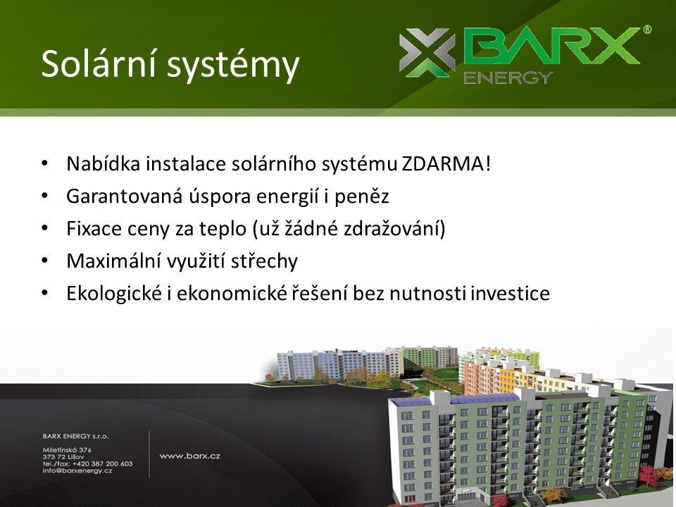 Solární systémy Nabídka instalace solárního systému ZDARMA!