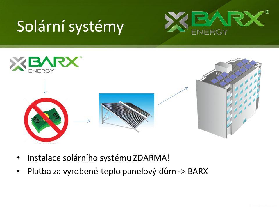Solární systémy Instalace solárního systému ZDARMA!