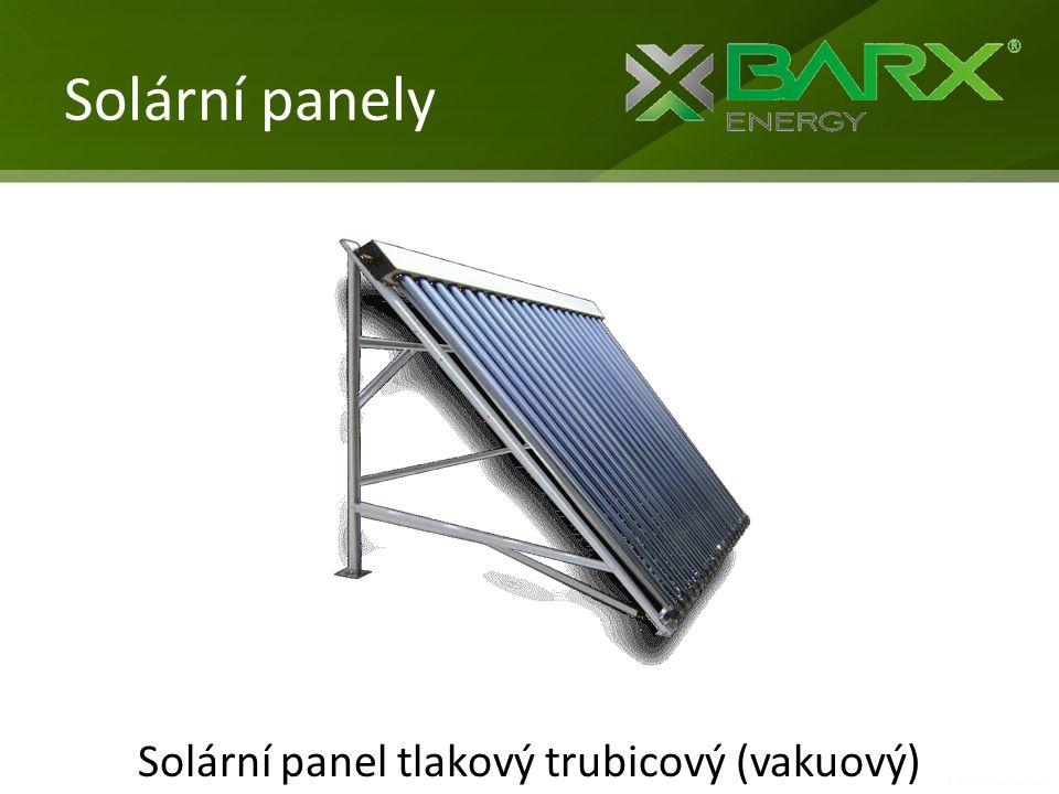 Solární panel tlakový trubicový (vakuový)