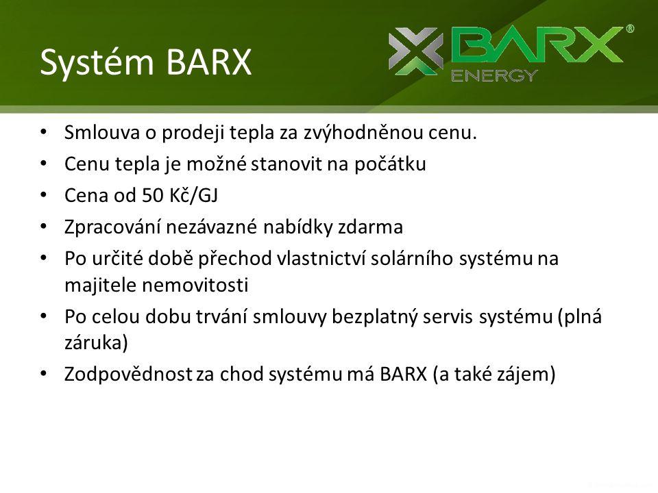 Systém BARX Smlouva o prodeji tepla za zvýhodněnou cenu.