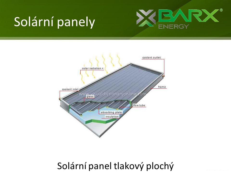 Solární panel tlakový plochý