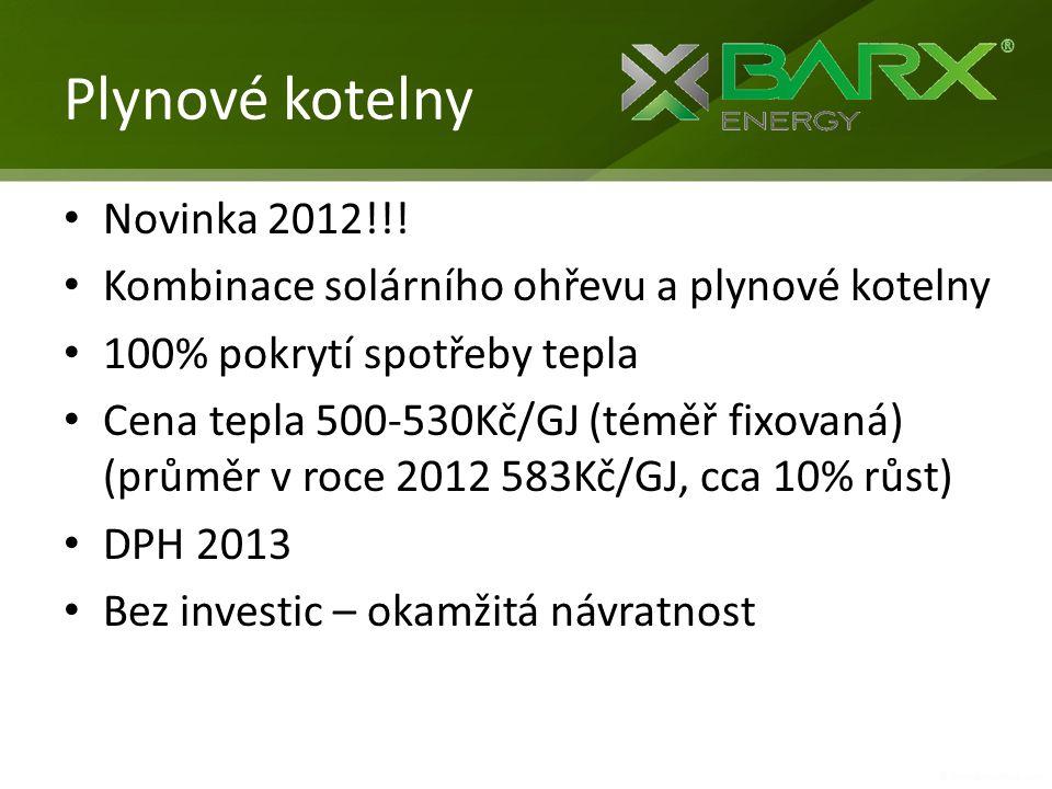 Plynové kotelny Novinka 2012!!!