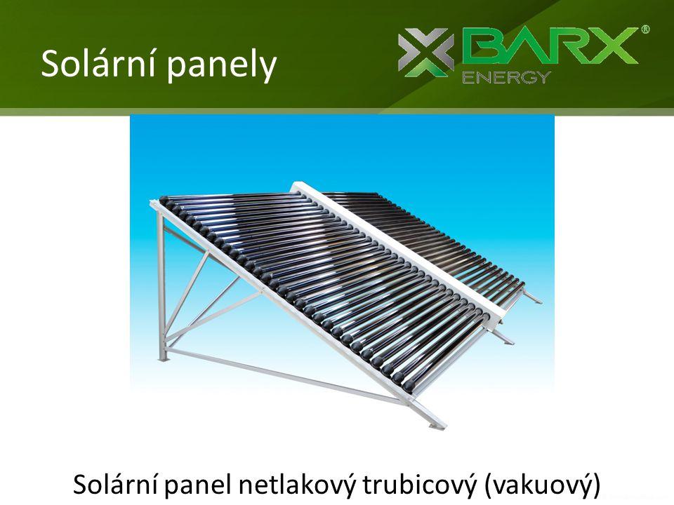 Solární panel netlakový trubicový (vakuový)