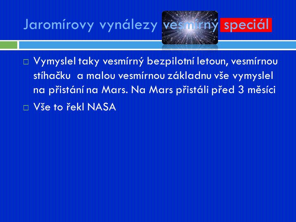 Jaromírovy vynálezy vesmírný speciál