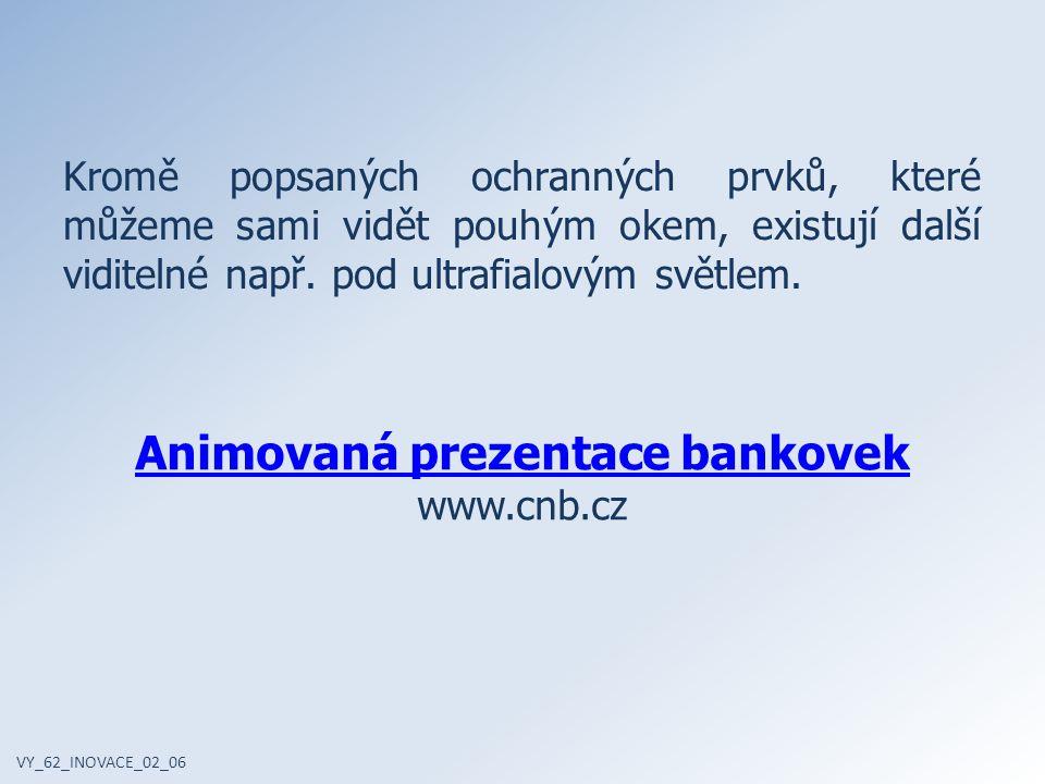 Animovaná prezentace bankovek