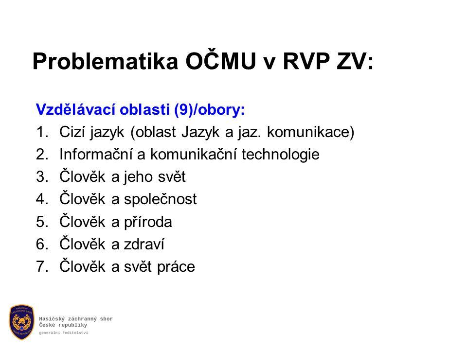 Problematika OČMU v RVP ZV: