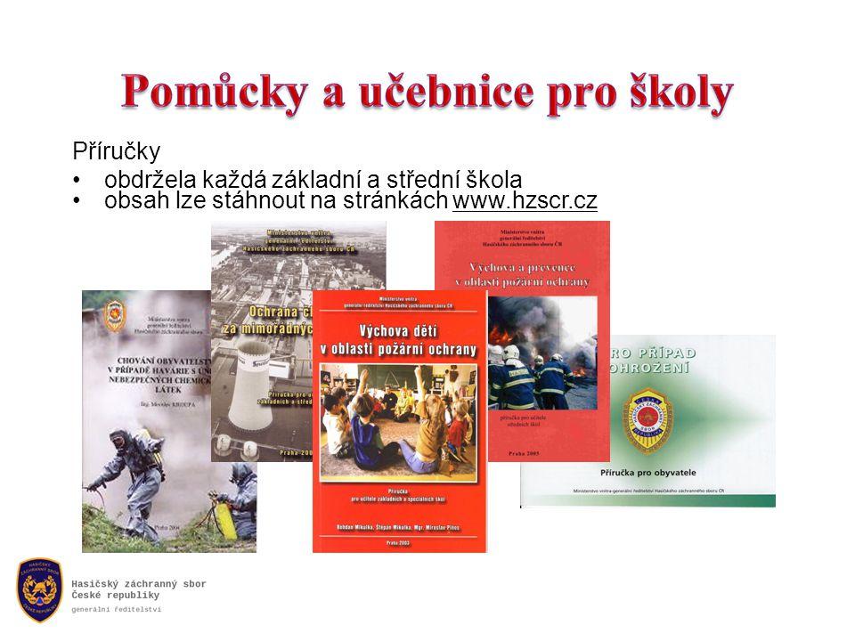 Příručky obdržela každá základní a střední škola obsah lze stáhnout na stránkách www.hzscr.cz