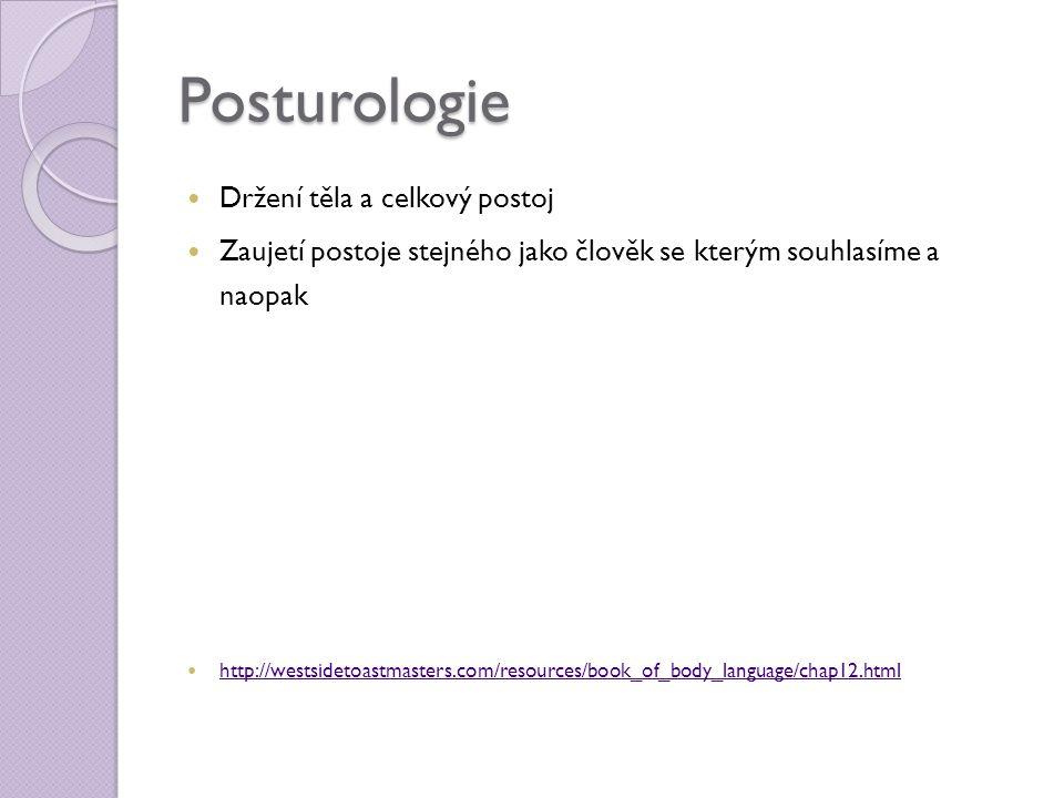 Posturologie Držení těla a celkový postoj