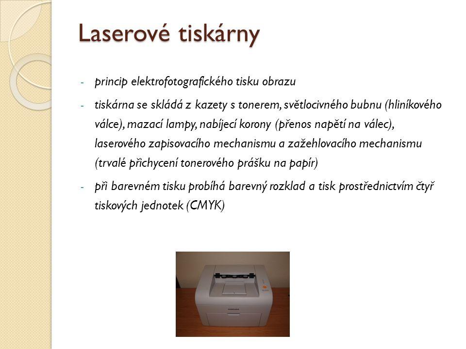 Laserové tiskárny princip elektrofotografického tisku obrazu