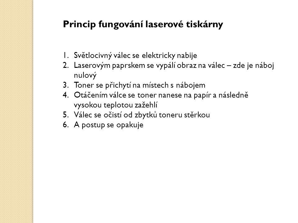 Princip fungování laserové tiskárny