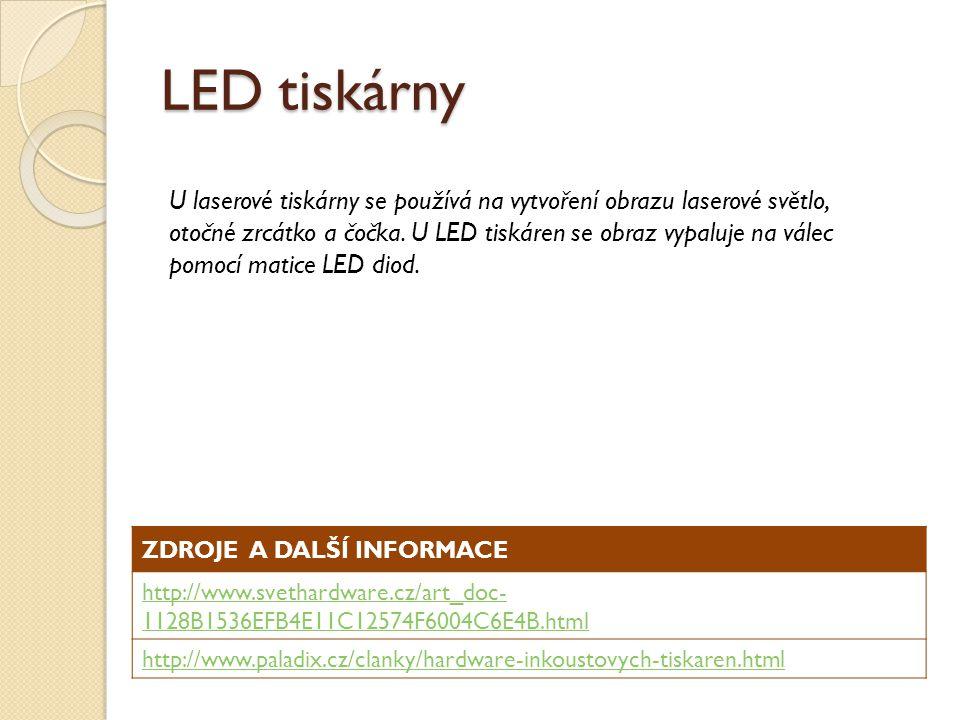 LED tiskárny