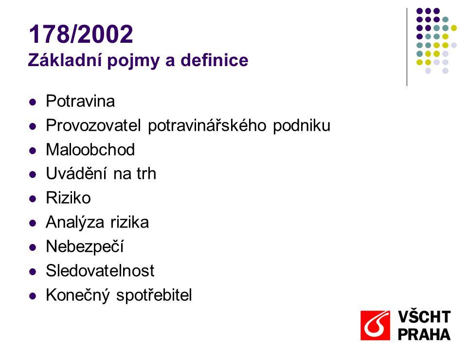 178/2002 Základní pojmy a definice