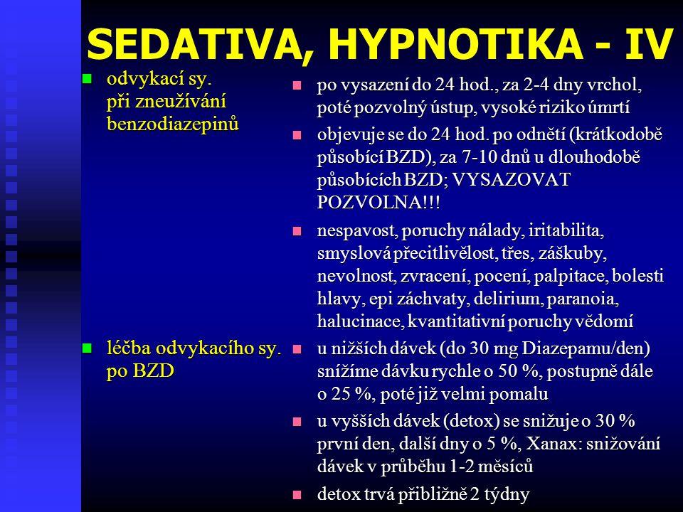 SEDATIVA, HYPNOTIKA - IV