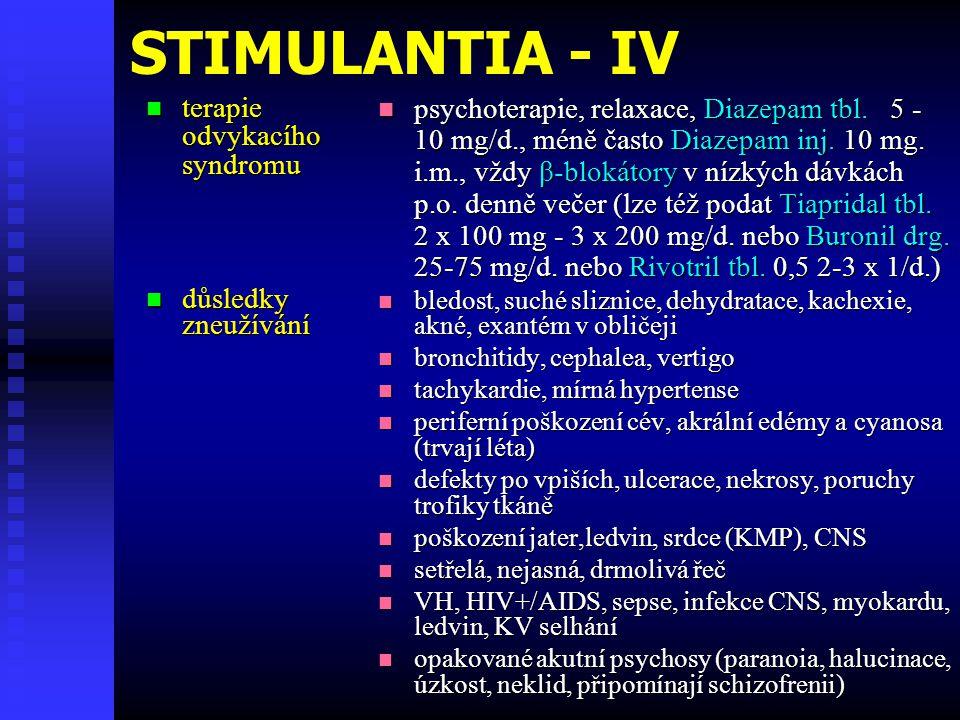 STIMULANTIA - IV terapie