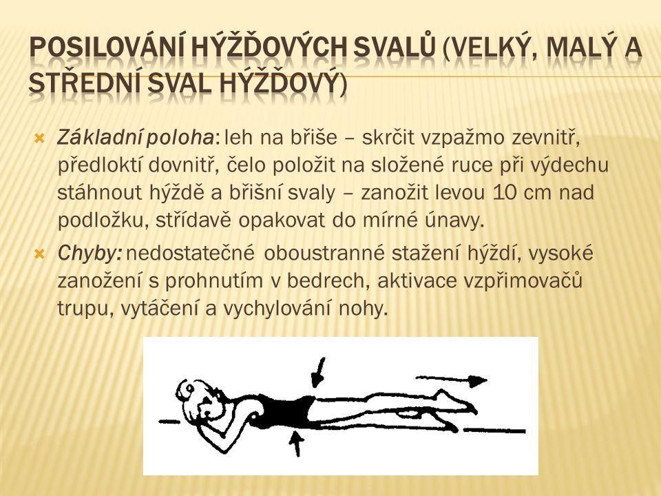 Posilování hýžďových svalů (velký, malý a střední sval hýžďový)