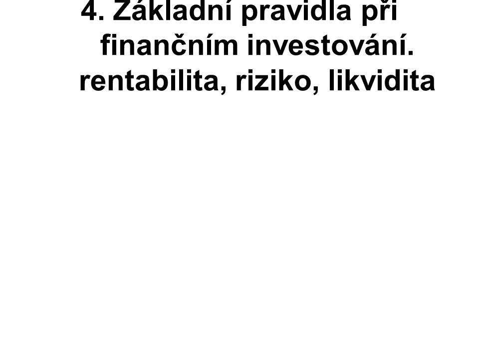4. Základní pravidla při finančním investování