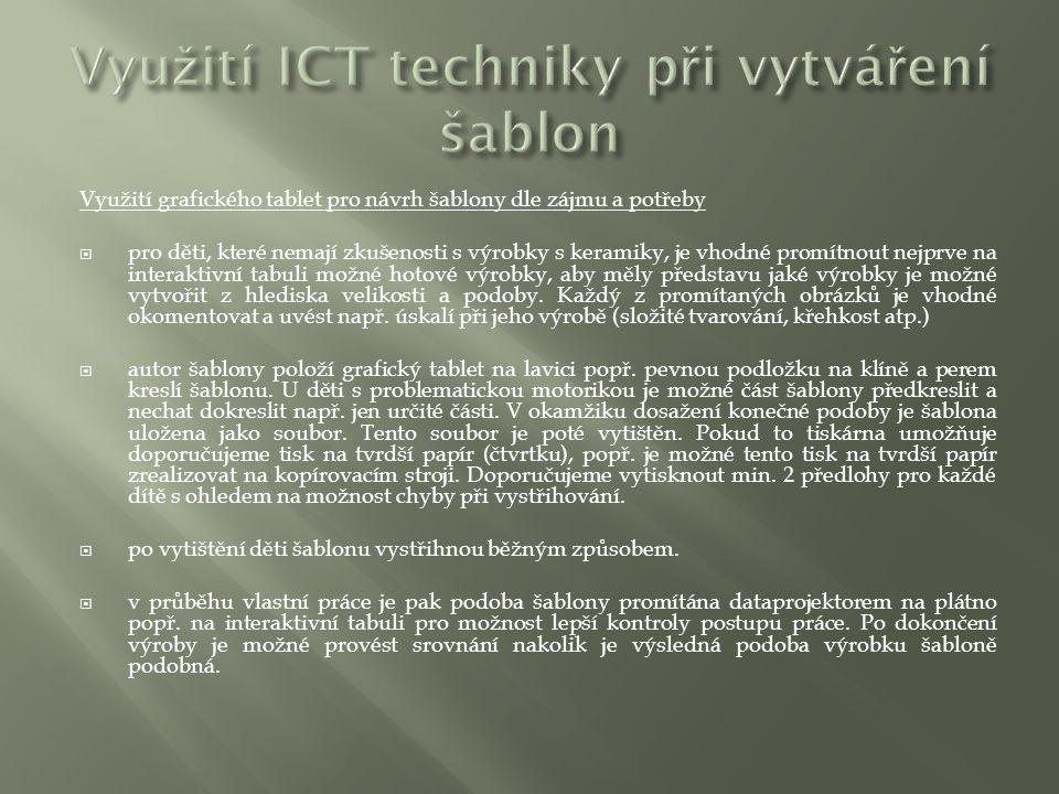 Využití ICT techniky při vytváření šablon