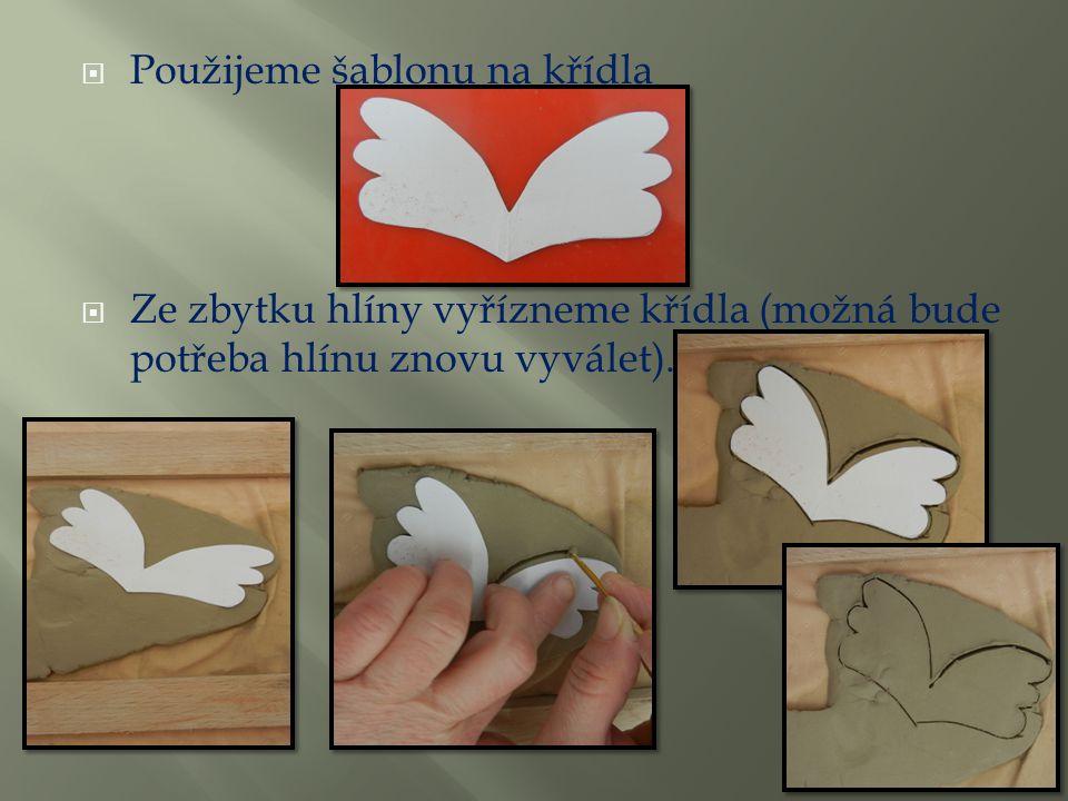Použijeme šablonu na křídla