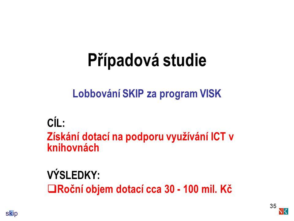 Lobbování SKIP za program VISK