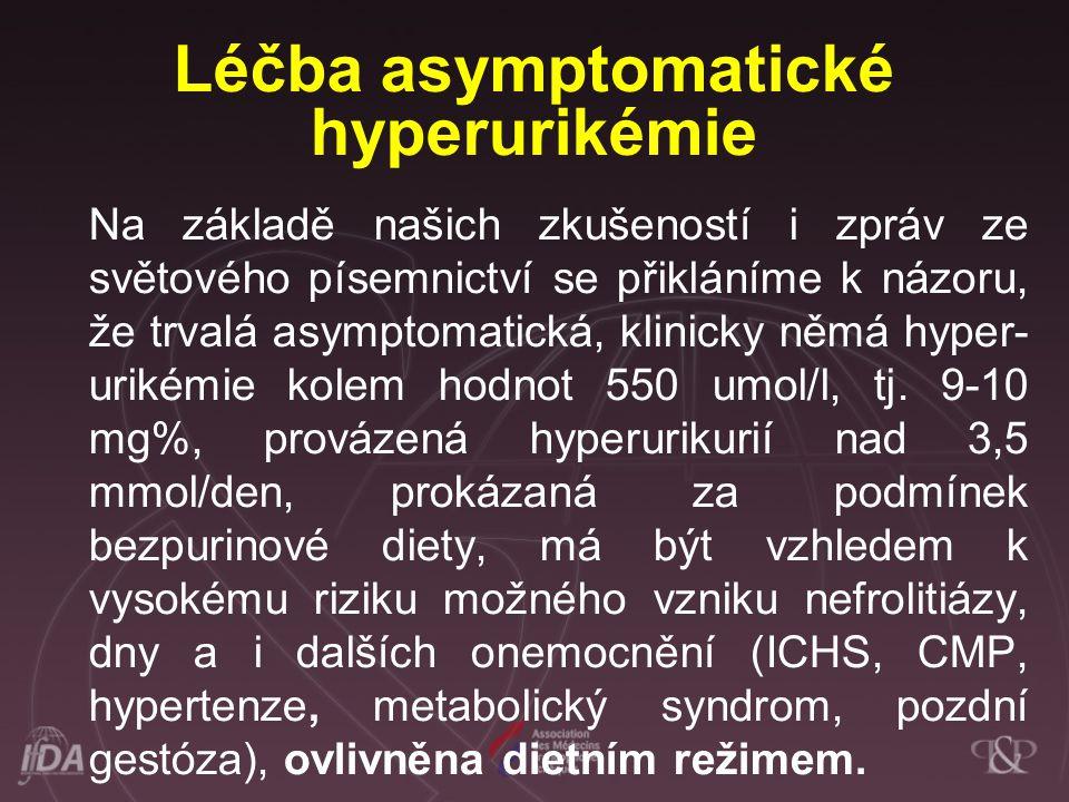 Léčba asymptomatické hyperurikémie