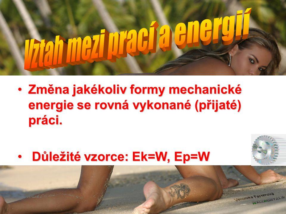 Vztah mezi prací a energií